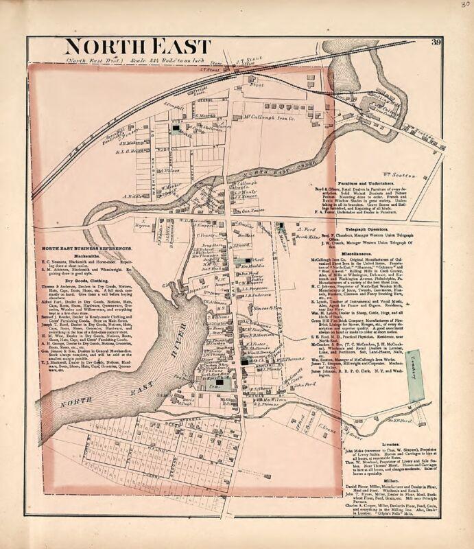 1877 CECIL COUNTY Atlas plat map MARYLAND family GENEALOGY history Land DVD P66