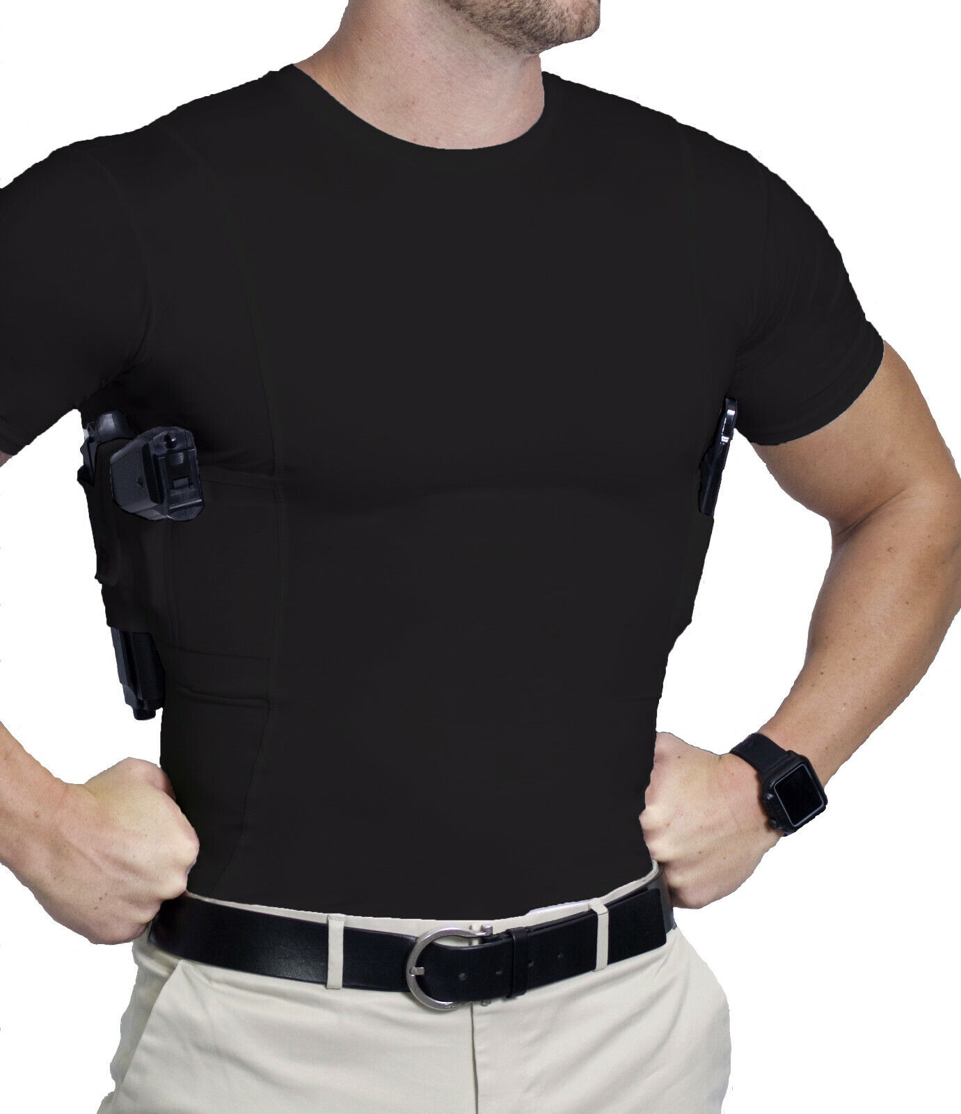 AC UNDERCOVER  Crew Neck Shirt Concealed Carry Clothing Hols