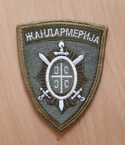 Serbia, Serbian Gendarmerie subdued patch