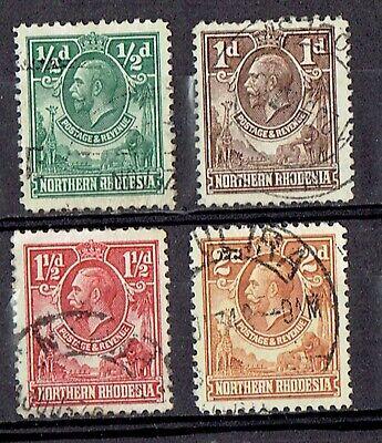NORTHERN RHODESIA 1925-29, SG 1-4 used
