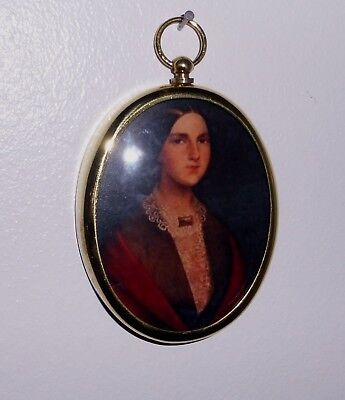 Miniature of Anita Garibaldi in an oval brass bezel