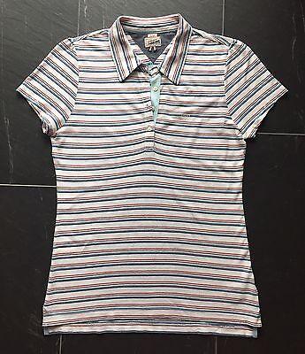 Hilfiger Denim Poloshirt für Damen, Gr. L, weiß-gestreift, wie NEU!