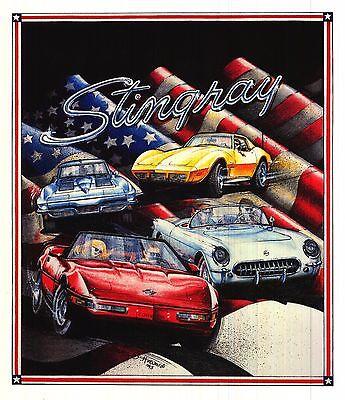 AUTOMOBILIA POSTER~Chevrolet Corvette Stingray 1993 Penny B. Howard Print USA~
