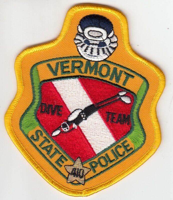 VERMONT STATE POLICE DIVE TEAM SHOULDER PATCH VT