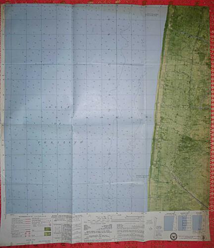 5928 ii SW - Gulf of Thailand - 1969 MAP - KIEN GIANG, Vietnam War - VC OCCUPIED