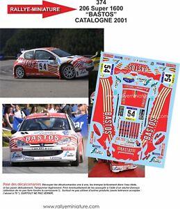 Decals 1//43 ref 0982 opel manta rallye 400 colsoul Bastos rally paris dakar 1984