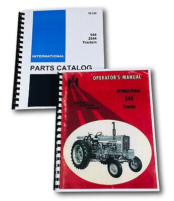 International Farmall Ih 544 2544 Tractor Operators Manual Parts Catalog Set