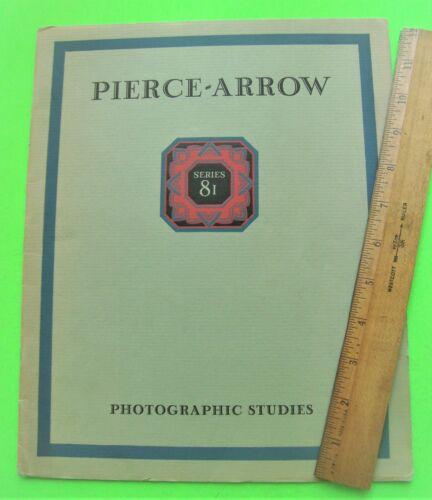 1928 PIERCE-ARROW SERIES 81 PRESTIGE CATALOG Brochure 28-pgs PHAETON Limo XLNT