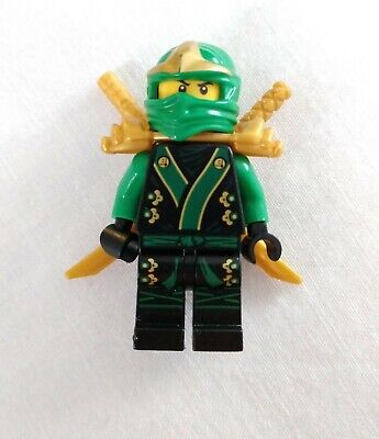 Lego Ninjago Lloyd The Final Battle Green Kimono Gold Swords Minifig