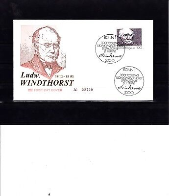(4607)Bund 1991,FDC(Etabo),100.Todestag Ludwig Windthorst,Mich.1510