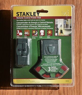(4) STANLEY Remote Control Christmas Light Unit Outdoor, Free Ship! (Stanley Remote)
