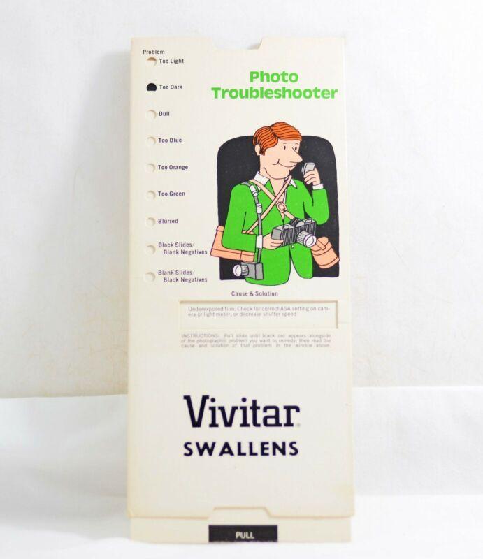VIVITAR PHOTO TROUBLESHOOTER CAMERA  INSTRUCTION GUIDE