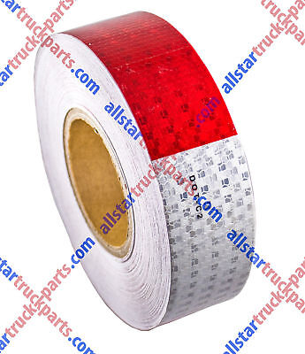 Conspicuity Tape Dot-c2 Approved Reflective Trailer Red White 2x150 -1 Roll