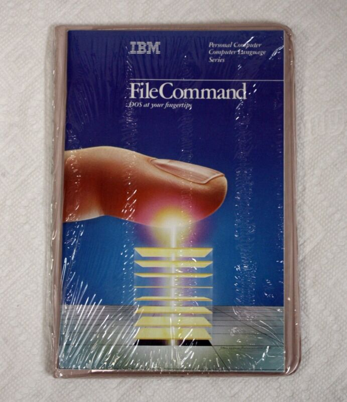 Vintage IBM FileCommand NEW And Sealed File Manager for DOS