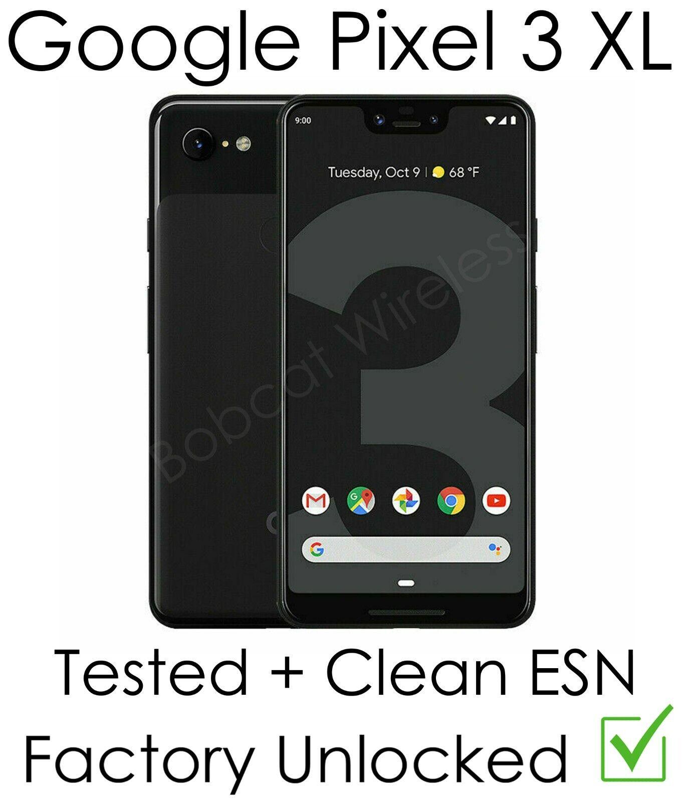 Android Phone - Google Pixel 3 XL Sprint T-Mobile Cricket AT&T Verizon GSM+CDMA Factory Unlocked