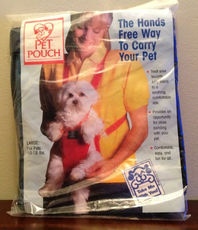 Dog carrier by Pet Pouch, size L for dogs 10-18 lbs