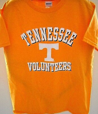 TENNESSEE VOLUNTEERS KIDS EXTRA-LARGE XL YOUTH SIZE 18 ORANGE T-SHIRT W/ LOGO T