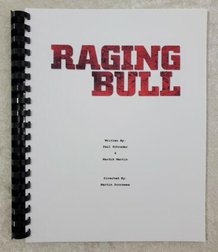 Raging Bull  Movie Script Reprint Full Script 1980 Film Robert De Niro