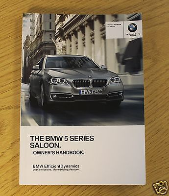 BMW 5 SERIES F10 SALOON GENUINE HANDBOOK OWNERS MANUAL 2013-2015