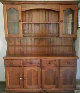 Wall Unit Solid Timber Pine Buffet Trott Park Marion Area Preview