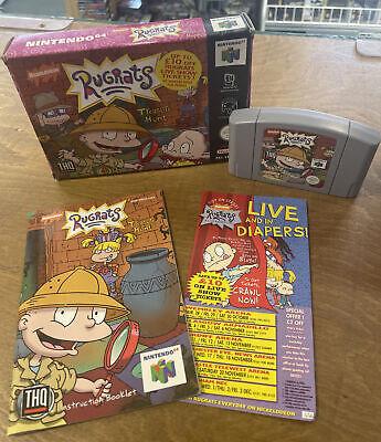 RUGRATS TREASURE HUNT ~ Nintendo 64 N64 PAL Boxed & Complete
