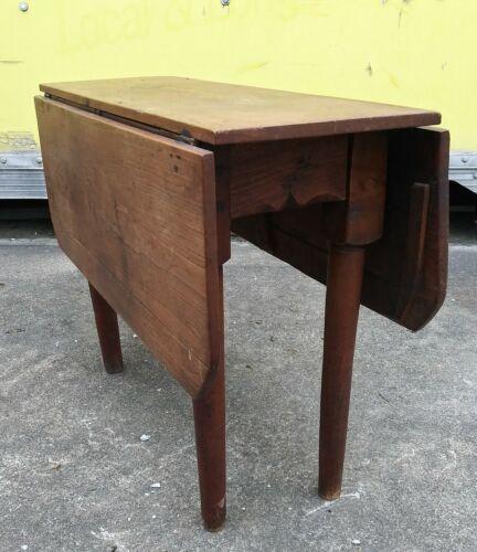 Primitive Antique Drop Leaf Gate leg Oak Dining Table 1800