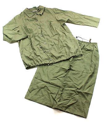 ULLA POPKEN Sommer Kostüm Set Longbluse Rock oliv 46 48 wadenlang leicht TOP (Nylon Übergröße Kostüm)