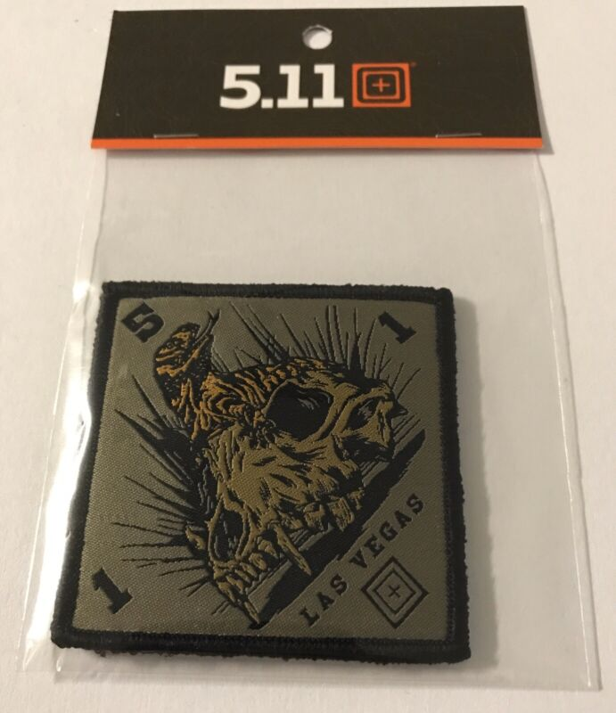 5.11 TACTICAL DOME PIECE//GOLD SKULL MADE OF WEAPONS PROMO PATCH MORALE PATCH NEW