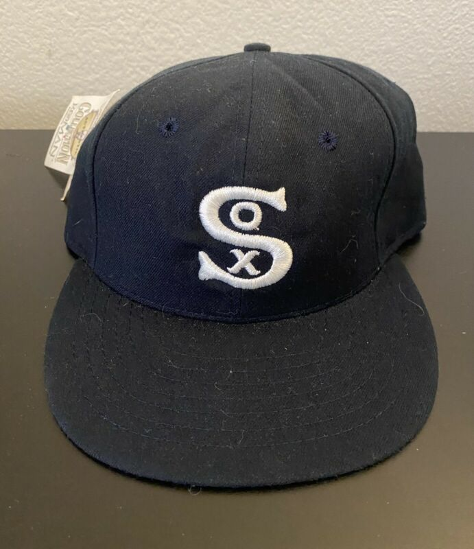 New 1931 CHICAGO WHITE SOX 100% Wool THROWBACK Baseball Cap Fitted Size 7 Hat
