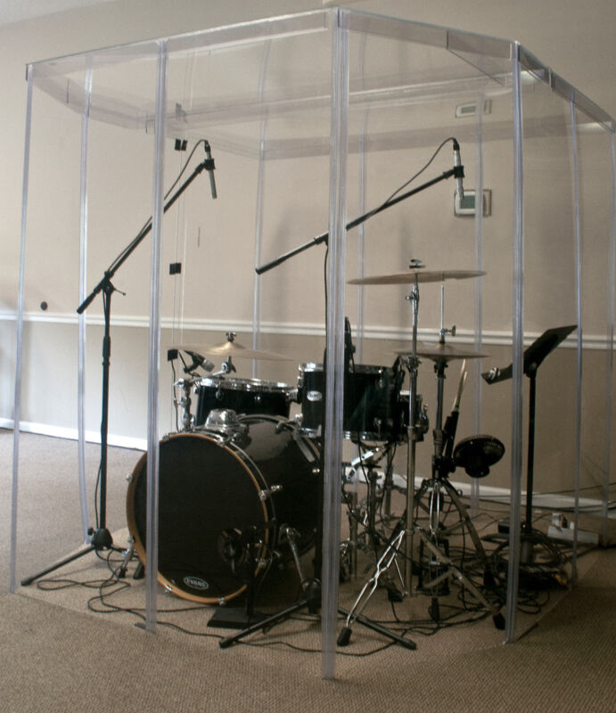 Drum Booth Fully Enclosed w/ a door & Sound Proof Room