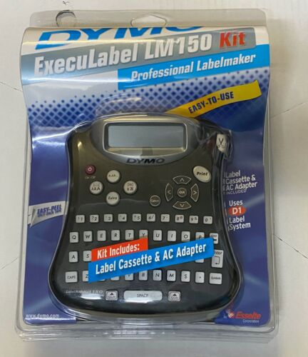 NEW SEALED DYMO ExecuLabel LM150 Professional LABELMAKER AC Adapter Cassette D1