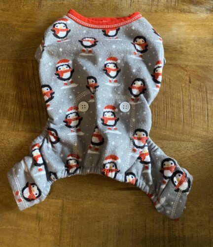 PupCrew X-Small Penguin Christmas Dog Pajamas NWOT - $12.99
