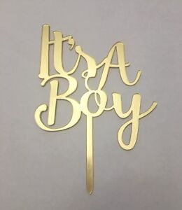 Gold mirror cake toppers