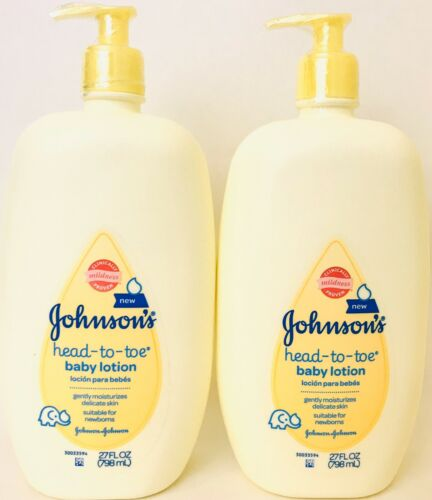 2 bottles johnsons 27 oz head to