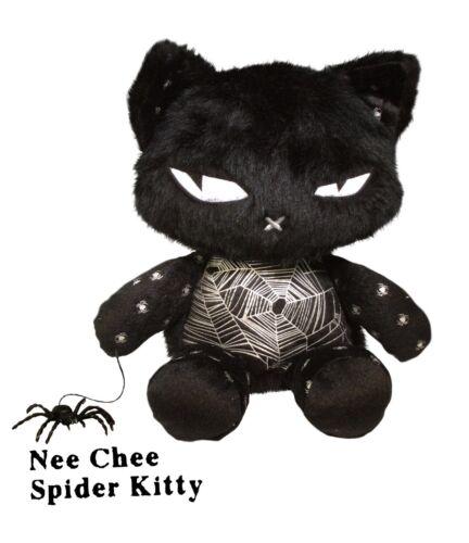Emily the Strange Nee Chee Spider Kitty Plush - NEW