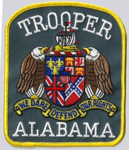 ALABAMA TROOPER - SHOULDER PATCH - IRON OR SEW-ON PATCH