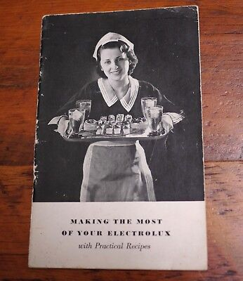 Used, 1935 Vintage Antique Electrolux Refrigerator Illustrated Recipe Cookbook for sale  Shipping to India