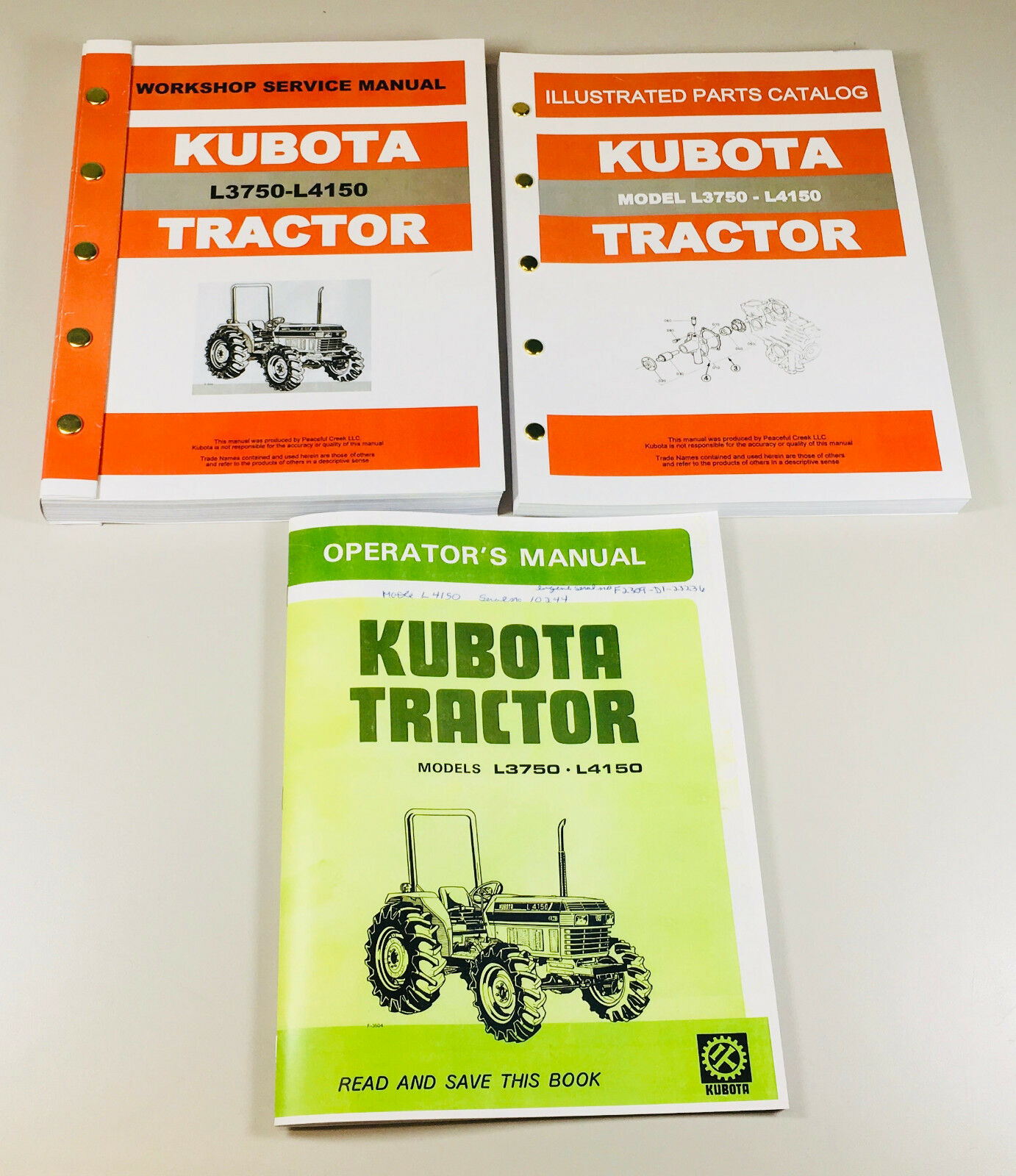 KUBOTA TRACTORS. MODELS: L3750 & L4150. Complete Service Repair/Overhaul/ Parts & Operators Manuals. 729 Pages