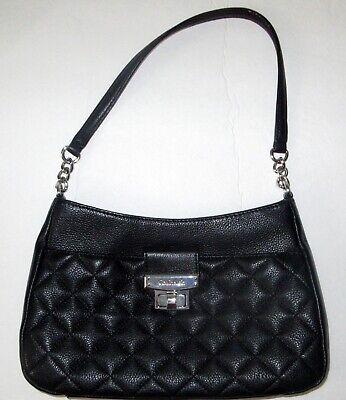 Ralph Lauren Quilted Black Leather Handbag