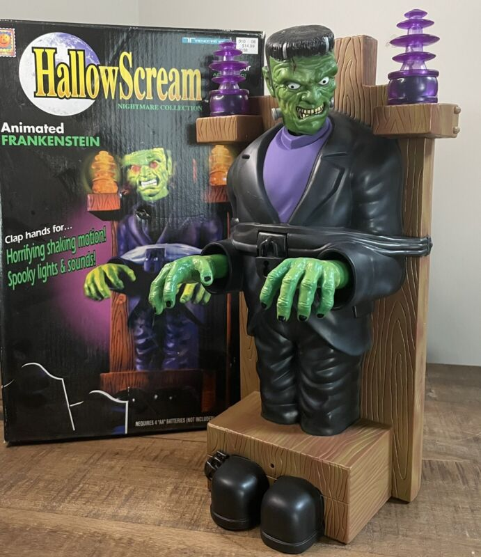 90's Hallowscream Trendmasters Animated Electric Chair Frankenstein Tested Works