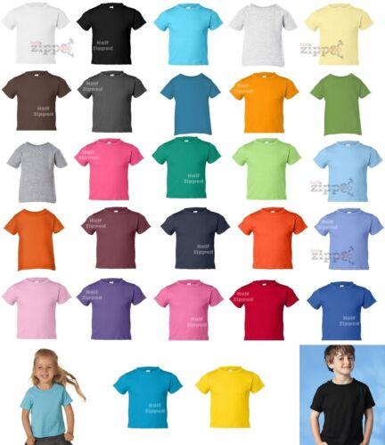 Toddler T-shirt  - Rabbit Skins Toddler Cotton Jersey Tee 3301T 2T 3T 4T