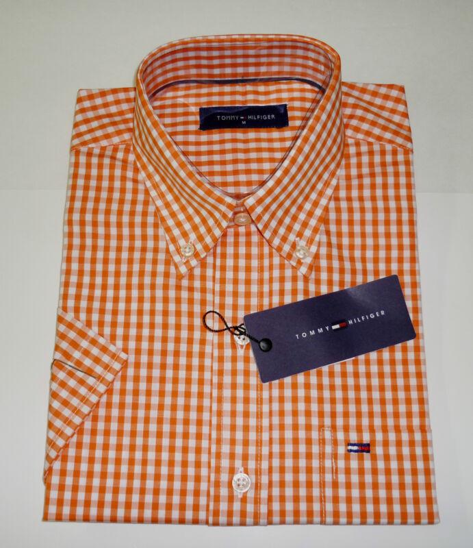 NWT Tommy Hilfiger Short Sleeves Plaid Shirt M,L, XL,2XL,3XL-3 COlOrs $99 Retail