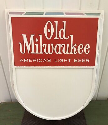 1966 Vintage Old Milwaukee Beer Wall Bar Sign NON LIGHTED