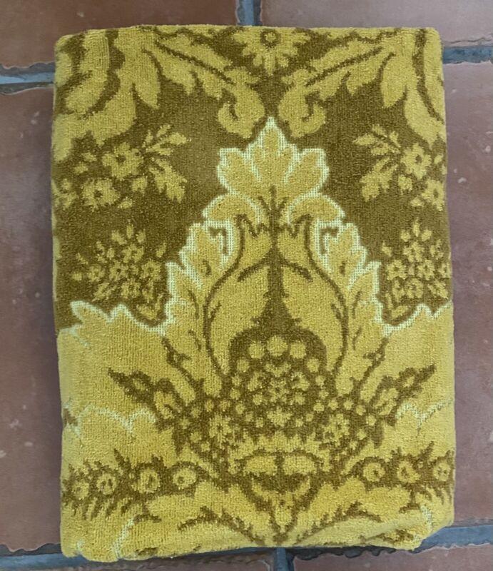 Vintage Stevens Utica Fine Arts Gold Towel