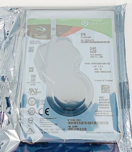 "Seagate FireCuda ST2000LX001 2 TB SATA 6.0Gb/s 2.5"" Notebooks Gaming Hybrid SSHD"