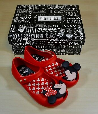 Mini Melissa Ultragirl   Disney Twins Girls Mary Jane Shoes In Red