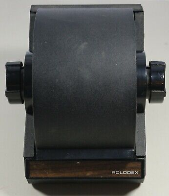 Vintage Mid Century Rolodex Industrial Metal Rotary Desk Card File Model 2254d
