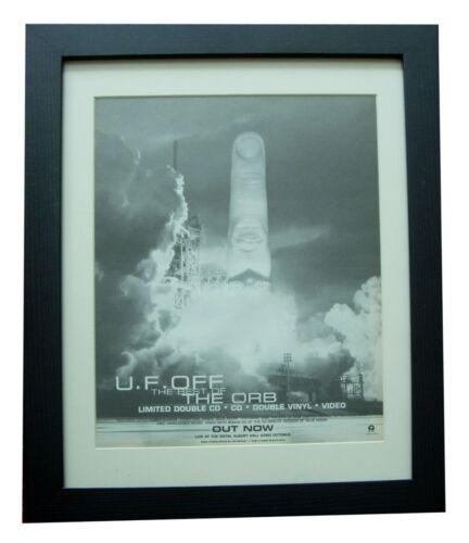 THE ORB+U.F. Off Best Of+LIVE POSTER+AD+ORIGINAL 1998+FRAMED+EXPRESS GLOBAL SHIP