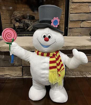 "Gemmy Frosty the Snowman Holiday Door Greeter 27.5"" Plush Lollipop Christmas"
