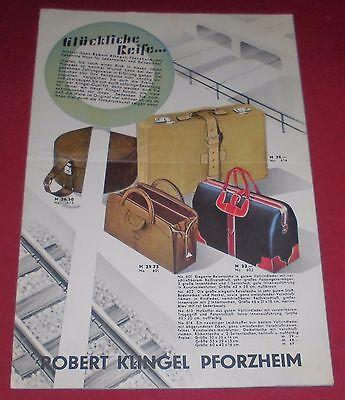 fbb456eb6935ae versandhaus mini katalog rob. klingel glückliche reise prospekt heft 1960er  alt
